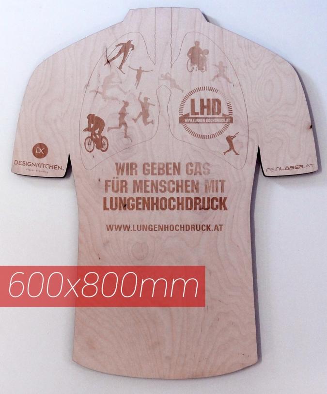 Holzschild graviert T-Shirt