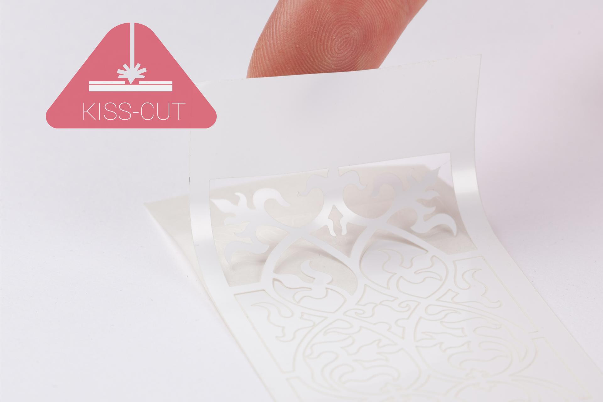 Aufkleber ausgeschnitten per Kiss-Cut Laser