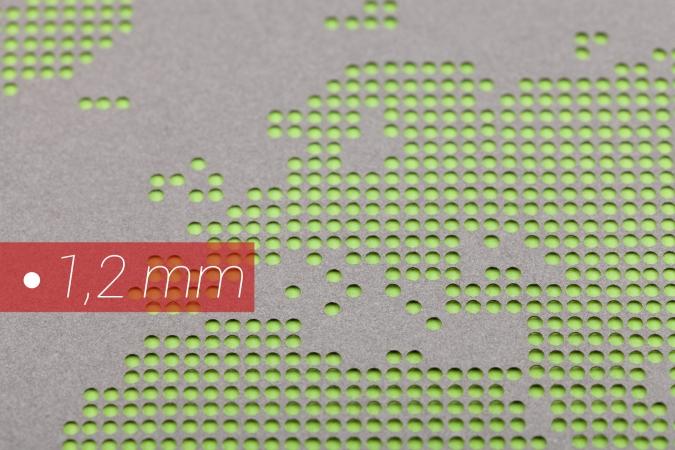 Lochrasterung mittels Laser Detailansicht